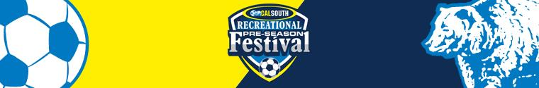 2018 Cal South Preseason Recreational Festival banner